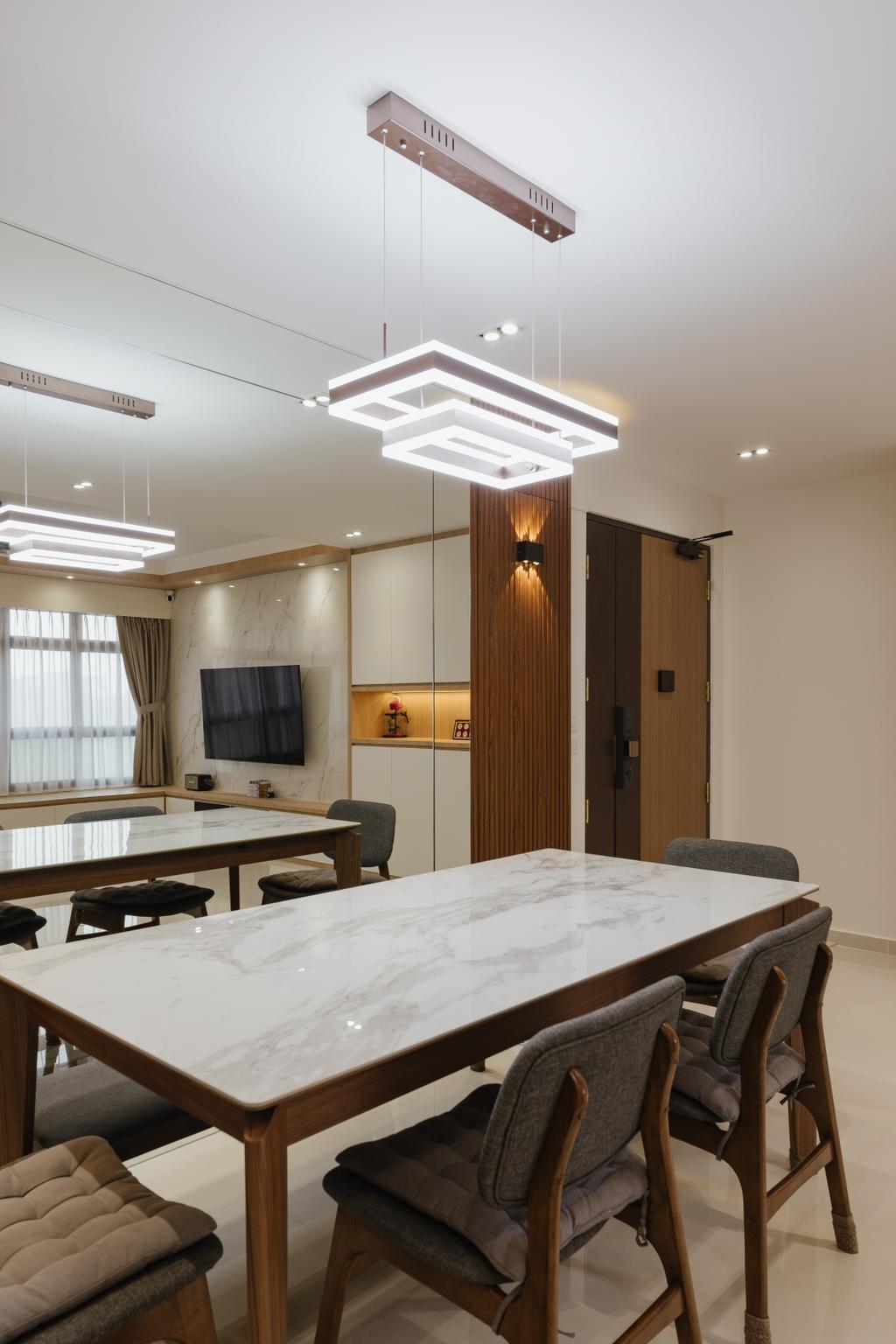 Modern, HDB, Dining Room, Sengkang West Road, Interior Designer, 96 Designers Group