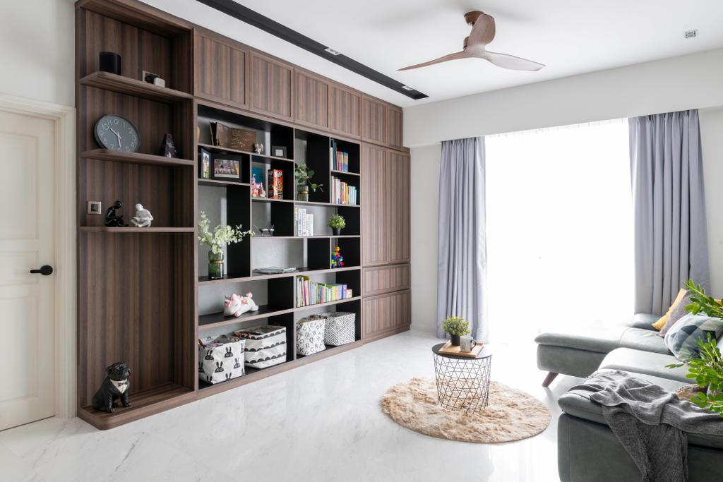 Modern, Condo, Living Room, Aspen Heights, Interior Designer, Meter Square, Contemporary