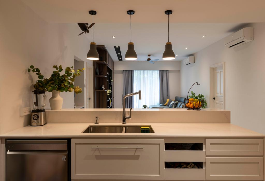 Modern, Condo, Kitchen, Aspen Heights, Interior Designer, Meter Square, Contemporary