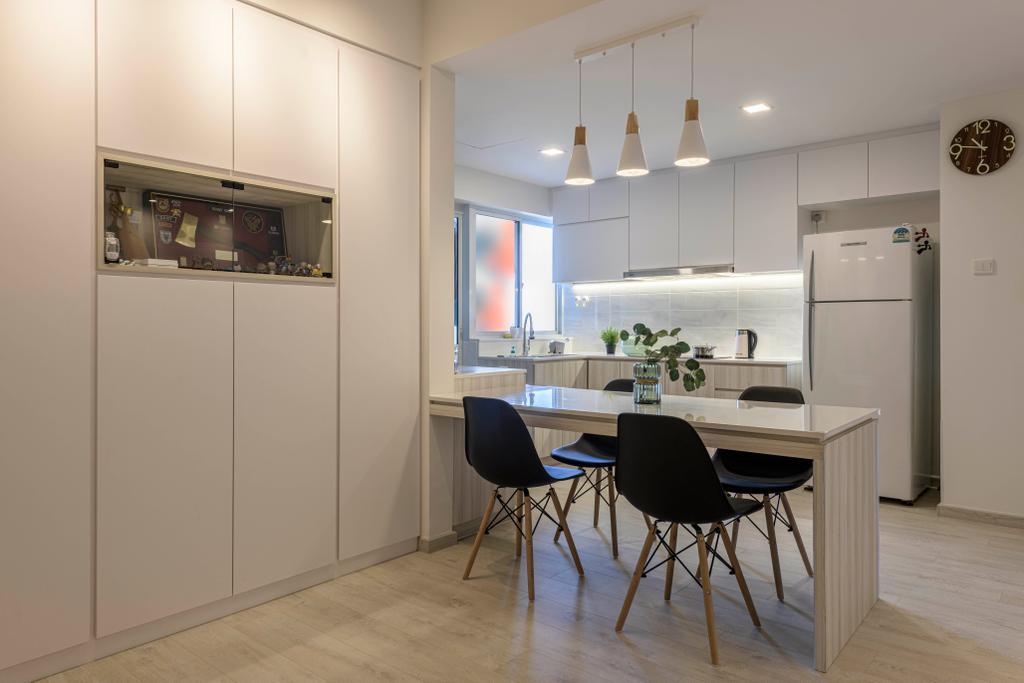 Minimalistic, Condo, Dining Room, Grandeur 8, Interior Designer, Meter Square