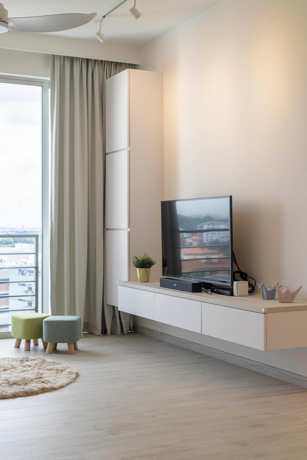 Minimalistic, Condo, Living Room, Grandeur 8, Interior Designer, Meter Square