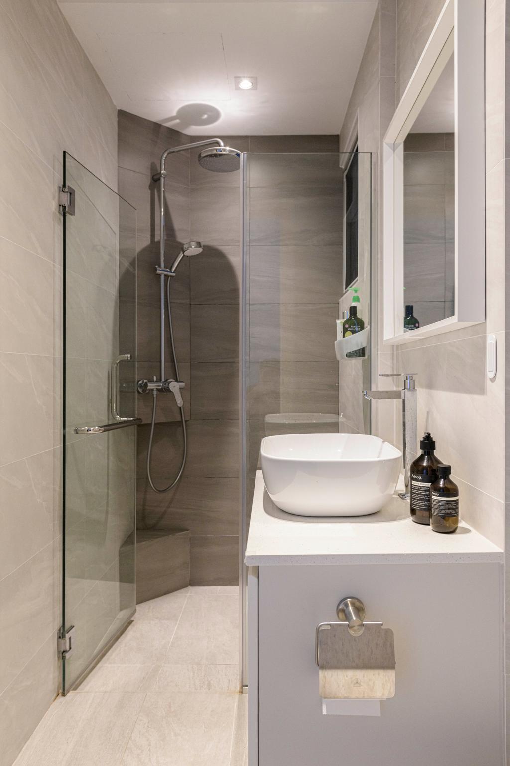 Minimalistic, Condo, Bathroom, Grandeur 8, Interior Designer, Meter Square