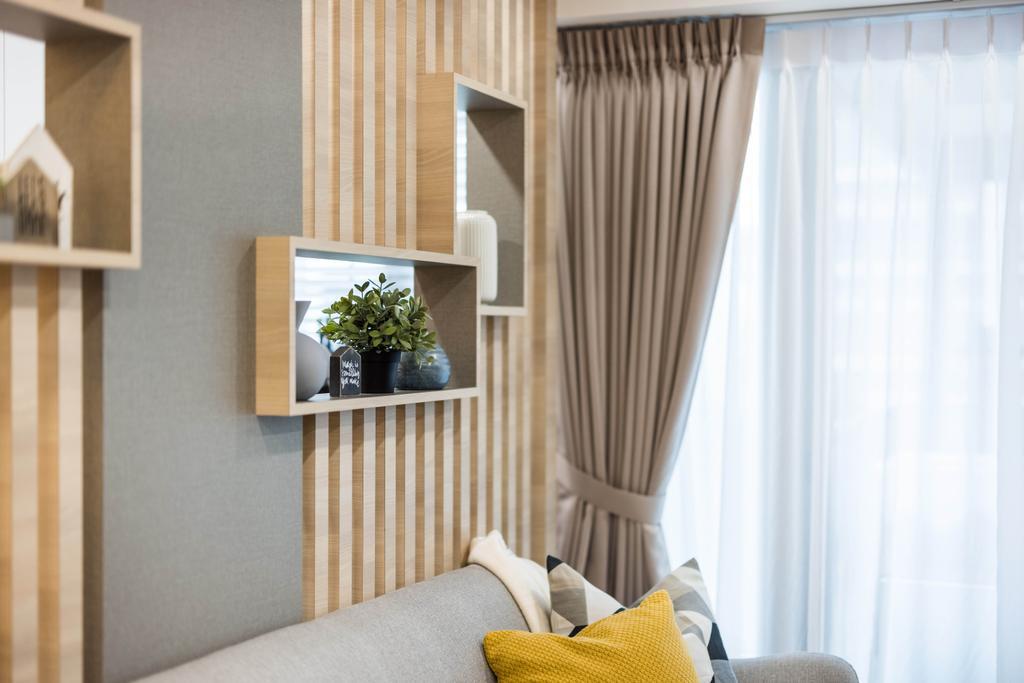 Scandinavian, HDB, Living Room, Tampines Central 7, Interior Designer, U-Home Interior Design