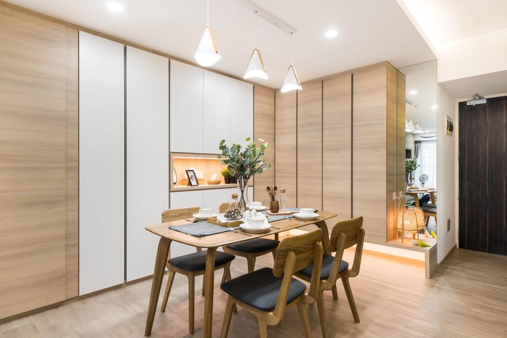 Scandinavian, HDB, Dining Room, Tampines Central 7, Interior Designer, U-Home Interior Design