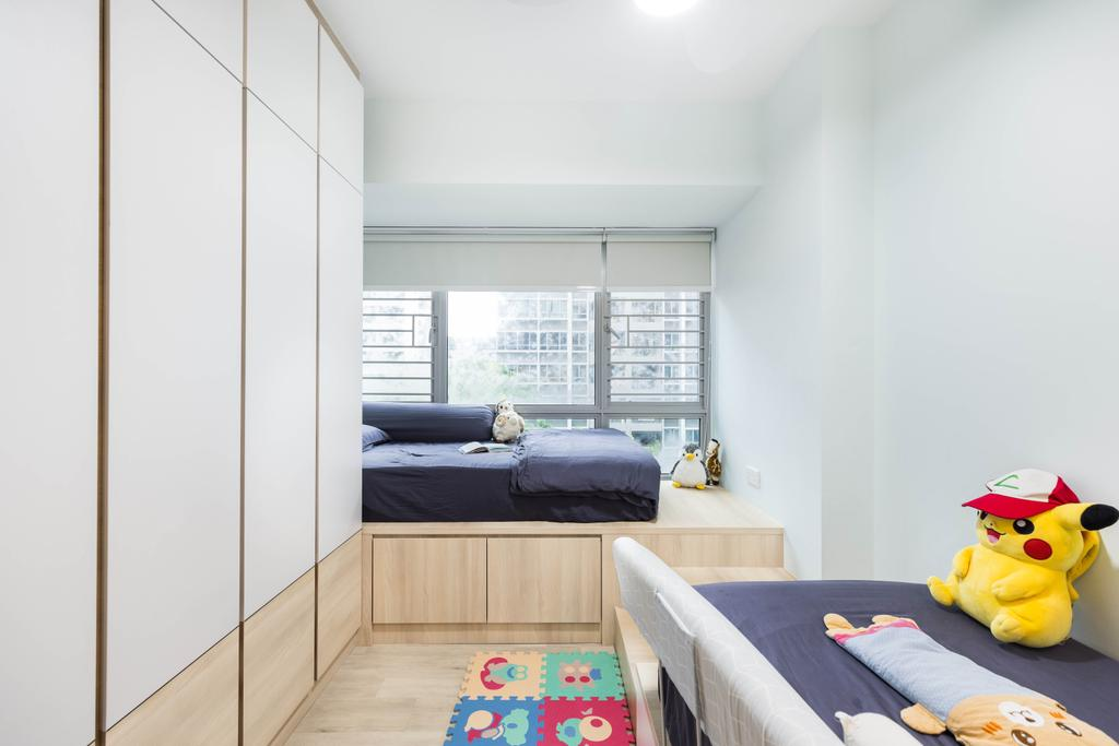 Scandinavian, HDB, Bedroom, Tampines Central 7, Interior Designer, U-Home Interior Design