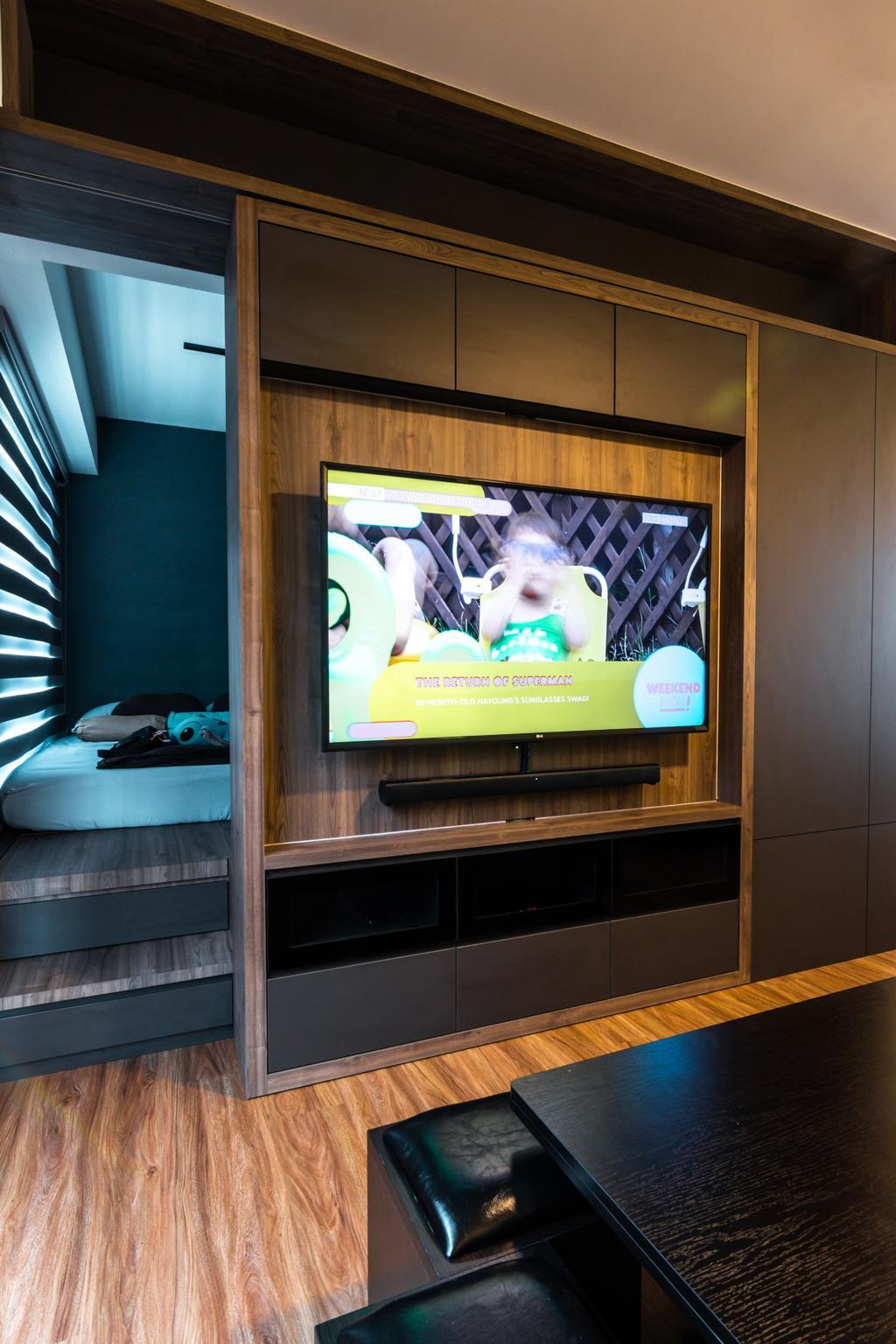 Modern, HDB, Living Room, Northshore Drive, Interior Designer, 9 Creation, Contemporary
