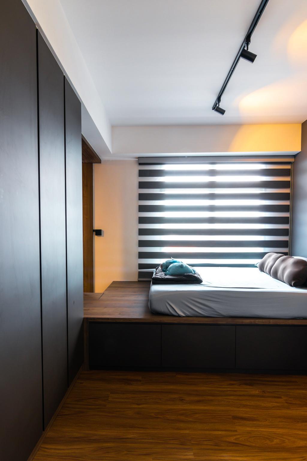 Modern, HDB, Bedroom, Northshore Drive, Interior Designer, 9 Creation, Contemporary