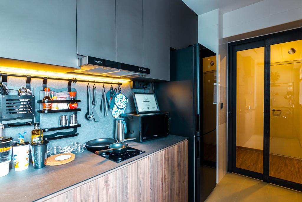 Modern, HDB, Kitchen, Northshore Drive, Interior Designer, 9 Creation, Contemporary