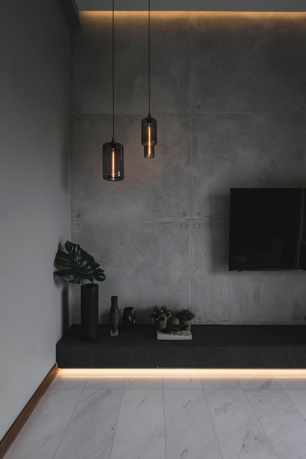 Industrial, Condo, Living Room, The Greenwich, Interior Designer, Image Creative Design
