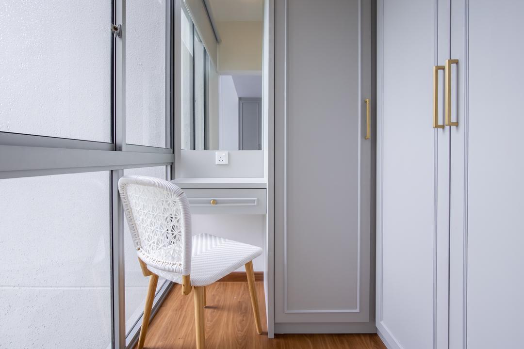 Grandeur 8, Colourbox Interior, Contemporary, Bedroom, Condo, Vanity, Dressing Table, Dressing Area