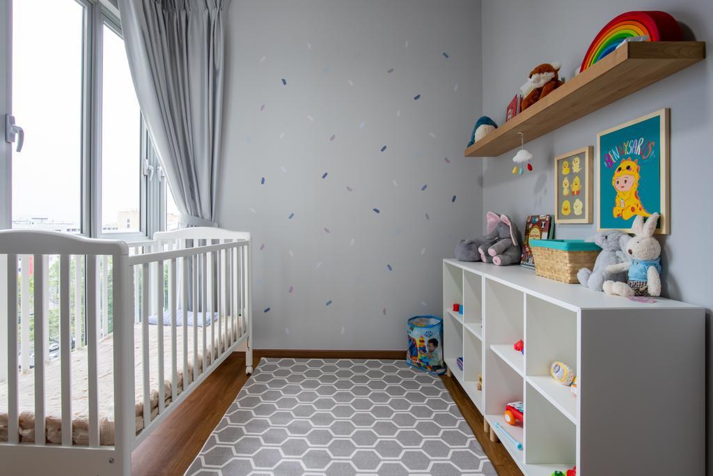 Contemporary, Condo, Bedroom, Grandeur 8, Interior Designer, Colourbox Interior, Nursery, Kids Room