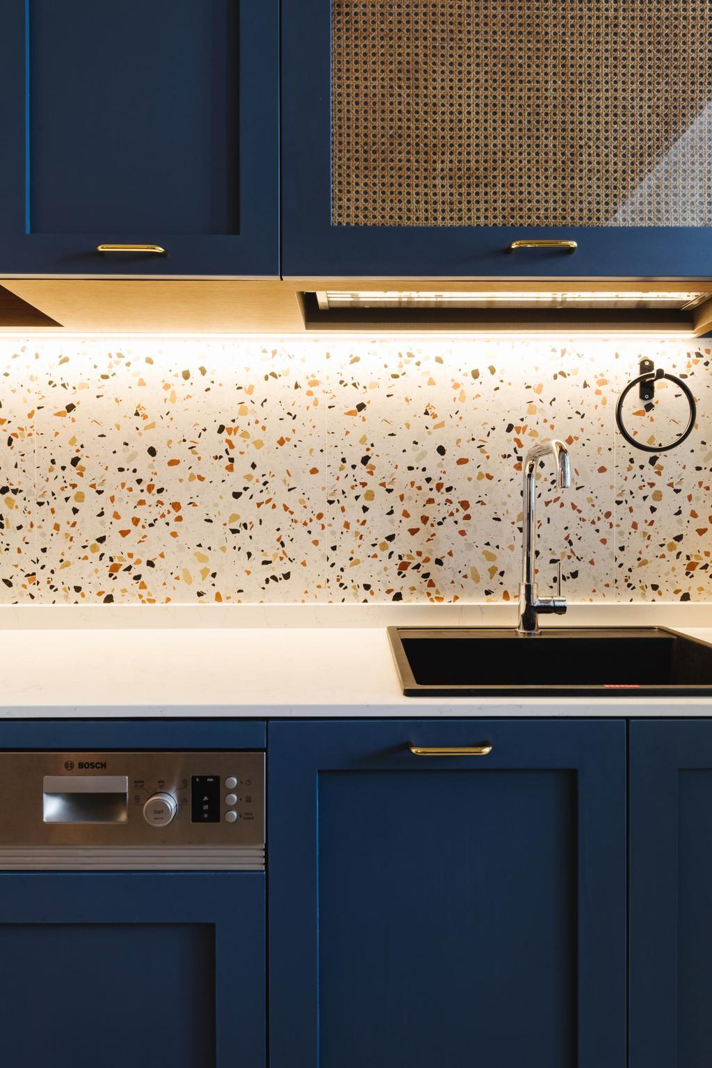 Modern, HDB, Kitchen, Northshore Drive, Interior Designer, D'Phenomenal