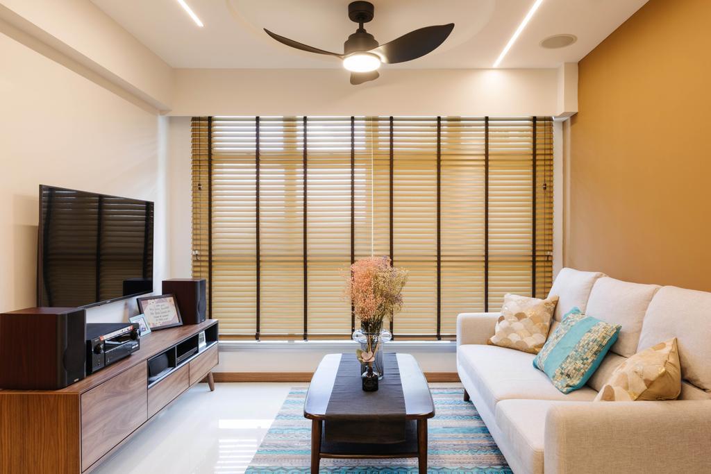 Modern, HDB, Living Room, Northshore Drive, Interior Designer, D'Phenomenal