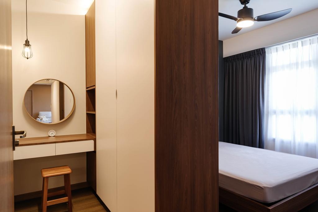Modern, HDB, Bedroom, Northshore Drive, Interior Designer, D'Phenomenal