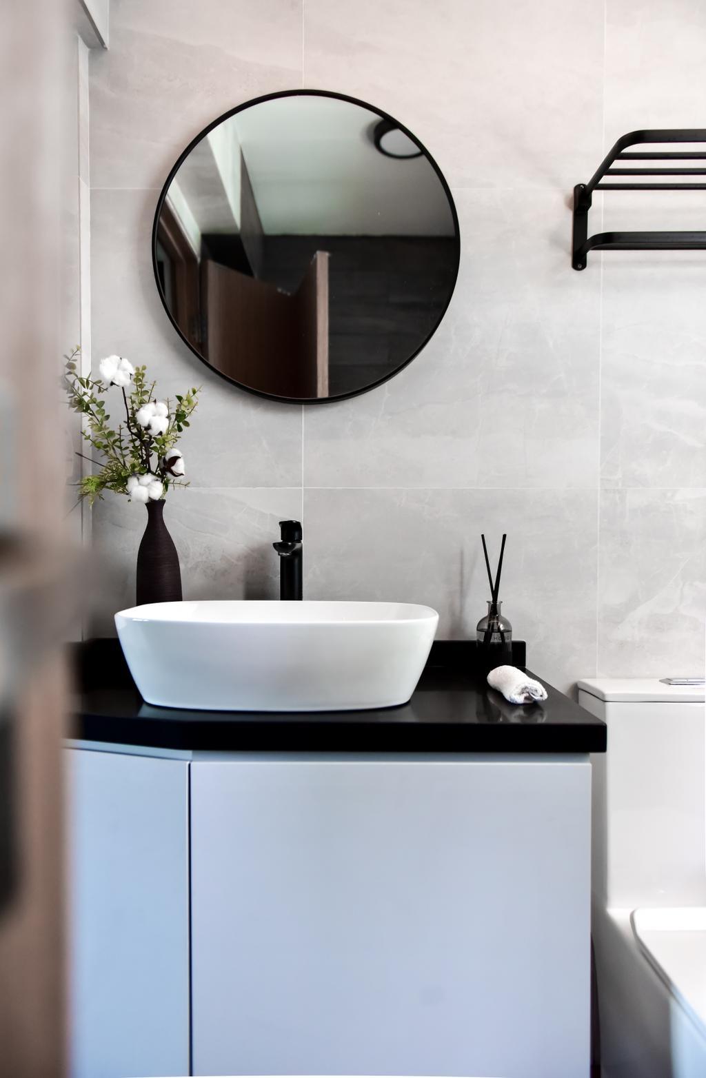 Contemporary, HDB, Bathroom, Anchorvale Lane, Interior Designer, Ataz Haus Interior Design