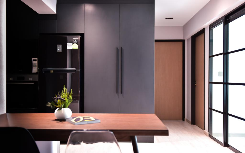 Contemporary, HDB, Kitchen, Anchorvale Lane, Interior Designer, Ataz Haus Interior Design