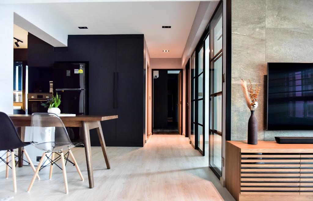 Contemporary, HDB, Living Room, Anchorvale Lane, Interior Designer, Ataz Haus Interior Design