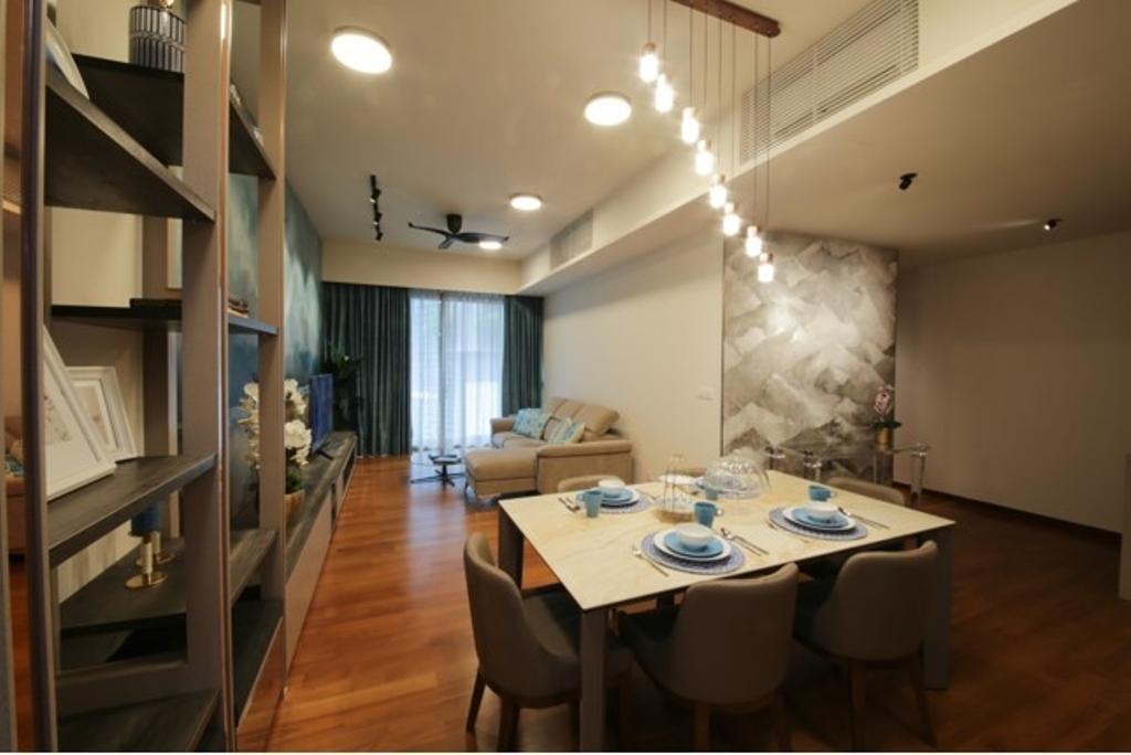 Modern, Condo, Dining Room, The Stonor 3, KLCC, Interior Designer, Curtain City Plus