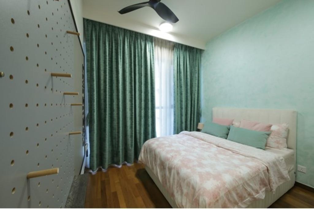 Modern, Condo, Bedroom, The Stonor 3, KLCC, Interior Designer, Curtain City Plus
