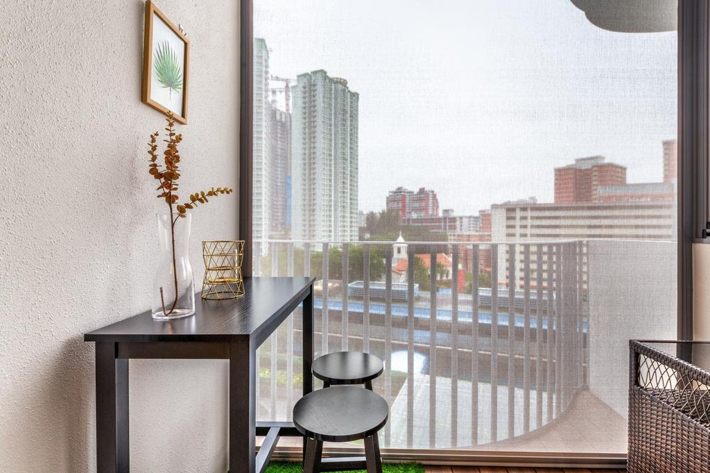 Contemporary, Condo, Balcony, Queens Peak, Interior Designer, Livspace