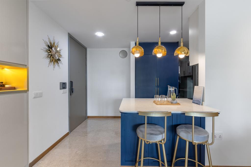 Contemporary, Condo, Dining Room, Riversails, Interior Designer, Livspace