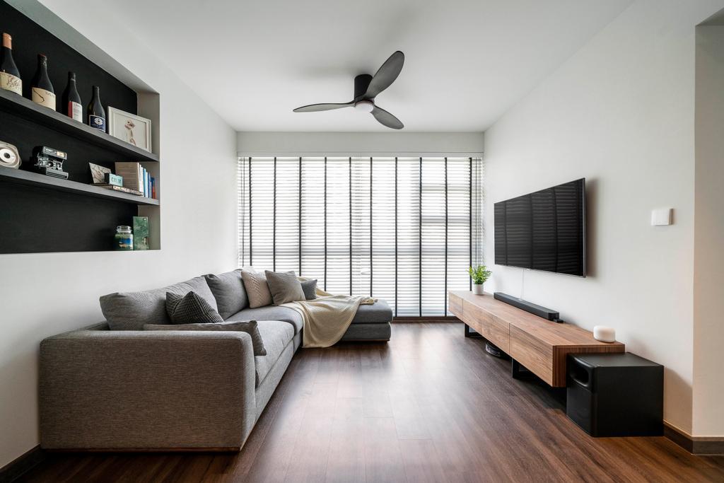 Contemporary, HDB, Living Room, Clementi Avenue 1, Interior Designer, Livspace, Scandinavian