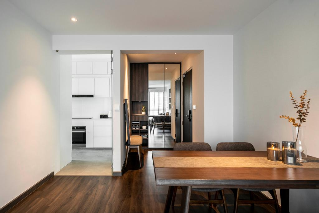 Contemporary, HDB, Dining Room, Clementi Avenue 1, Interior Designer, Livspace, Scandinavian