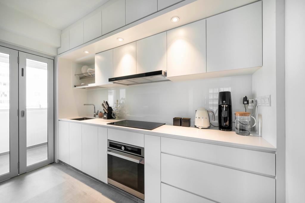 Contemporary, HDB, Kitchen, Clementi Avenue 1, Interior Designer, Livspace, Scandinavian