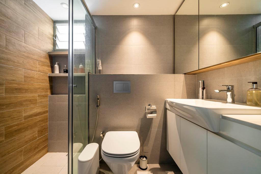 Contemporary, HDB, Bathroom, Clementi Avenue 1, Interior Designer, Livspace, Scandinavian