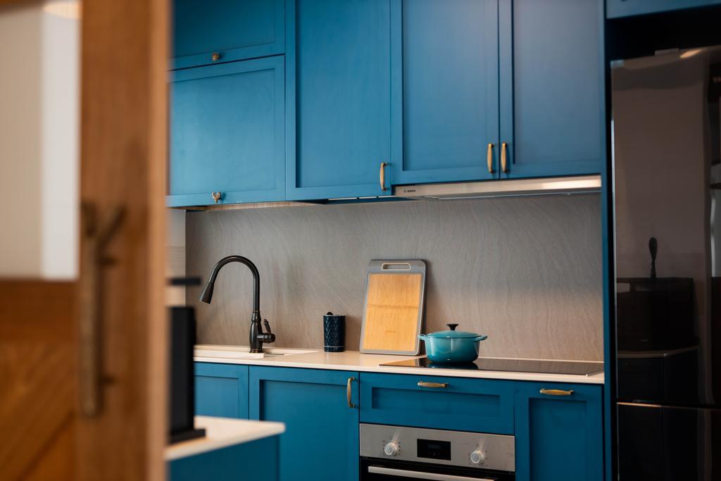 Contemporary, HDB, Kitchen, Canberra Street, Interior Designer, Forefront Interior, Scandinavian, Blue