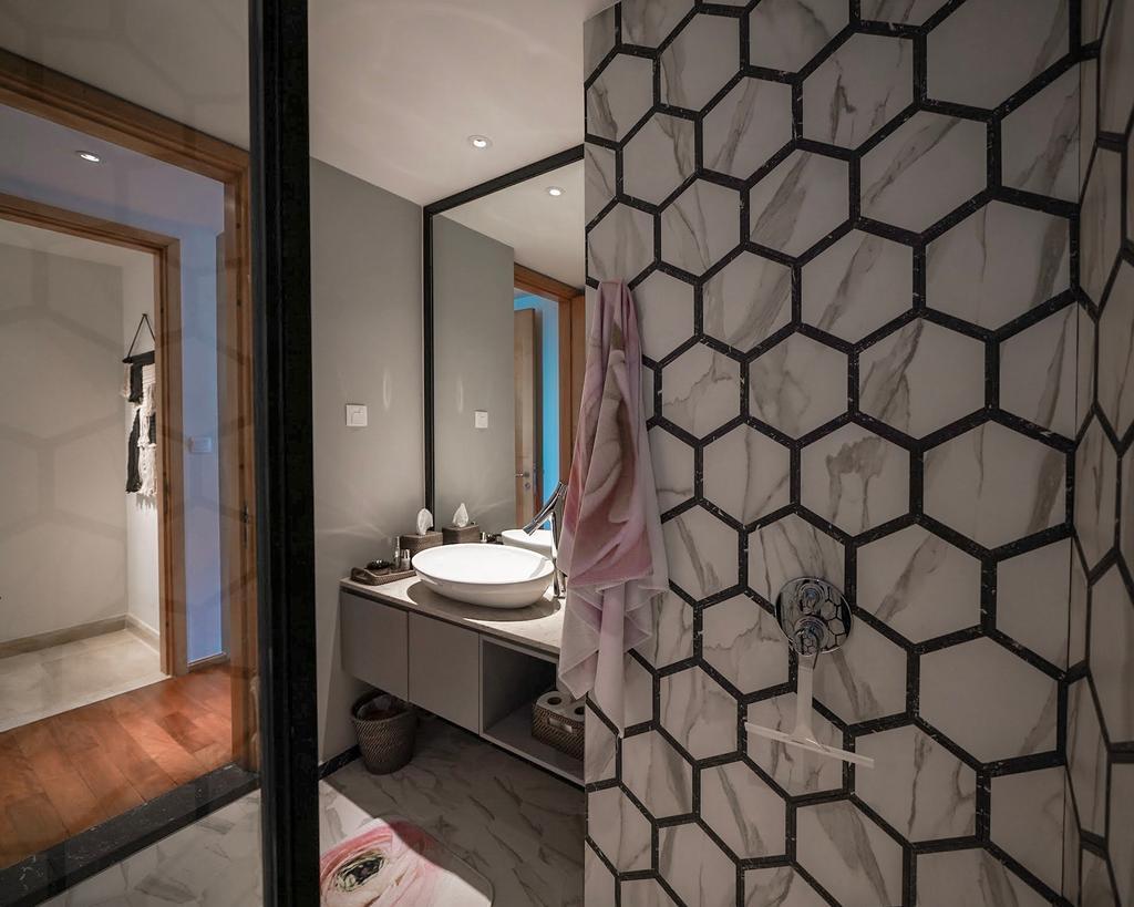 Contemporary, Condo, Bathroom, Newton, Interior Designer, Spire Id
