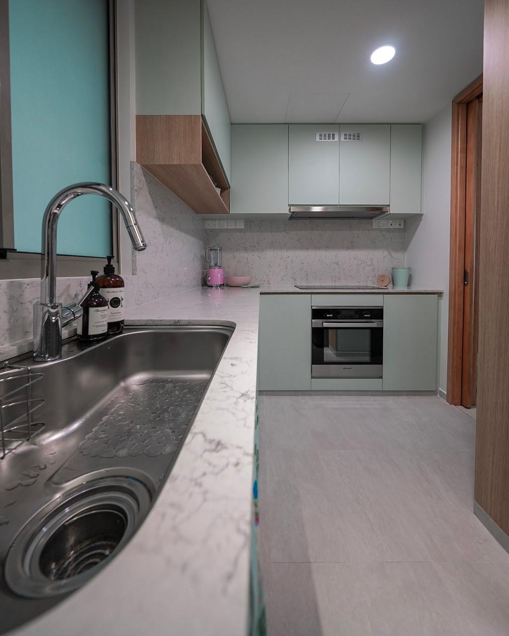 Contemporary, Condo, Kitchen, Newton, Interior Designer, Spire Id