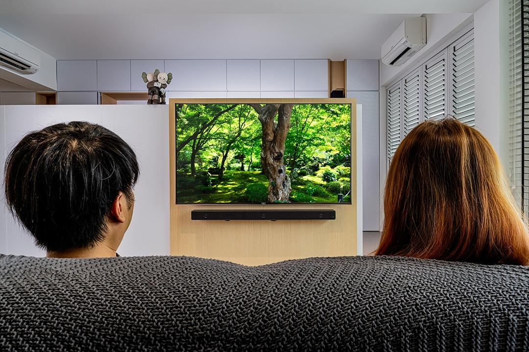 how to mount TV in living room
