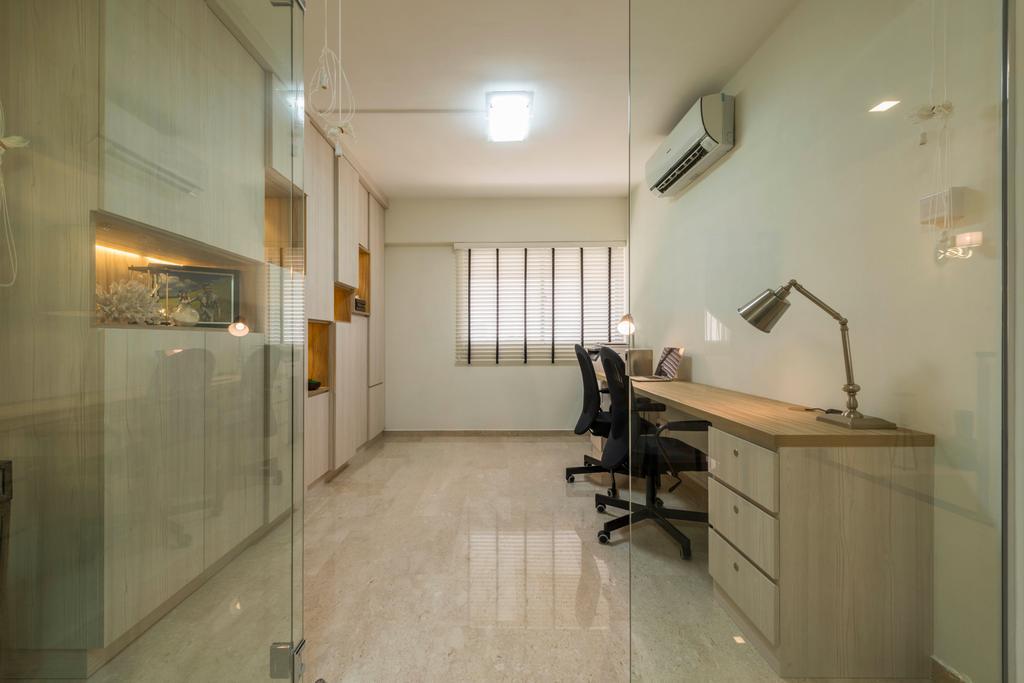 Modern, HDB, Study, Yung Ping Road, Interior Designer, U-Home Interior Design