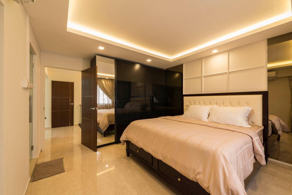 Modern, HDB, Bedroom, Yung Ping Road, Interior Designer, U-Home Interior Design