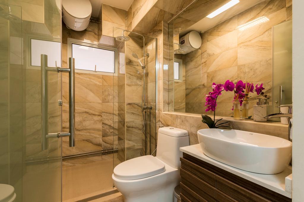 Modern, HDB, Bathroom, Yung Ping Road, Interior Designer, U-Home Interior Design