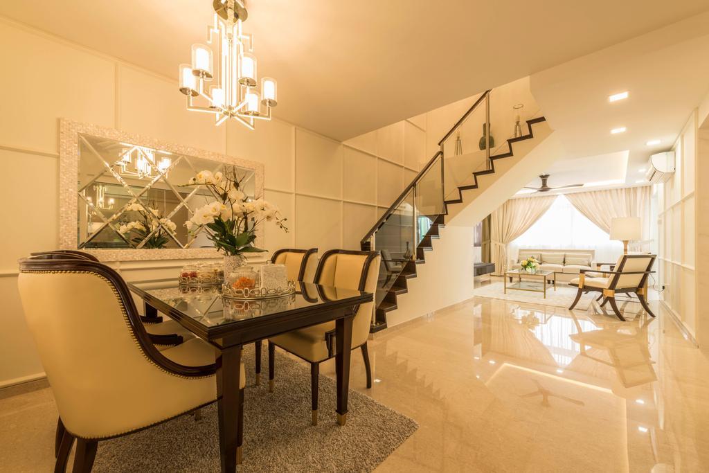 Modern, HDB, Dining Room, Yung Ping Road, Interior Designer, U-Home Interior Design