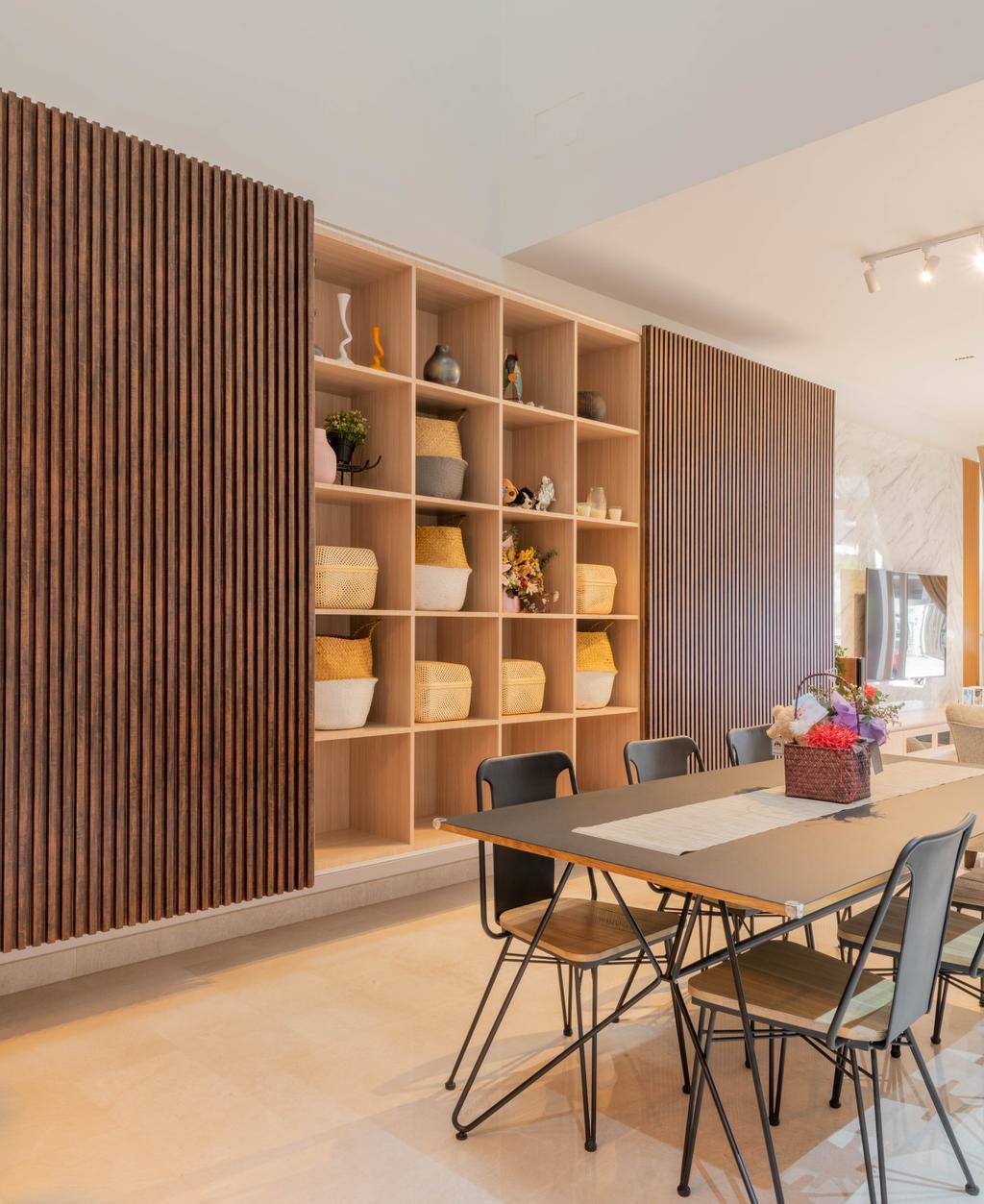 Contemporary, Landed, Dining Room, Luxus Hill, Interior Designer, D'Brain Studio
