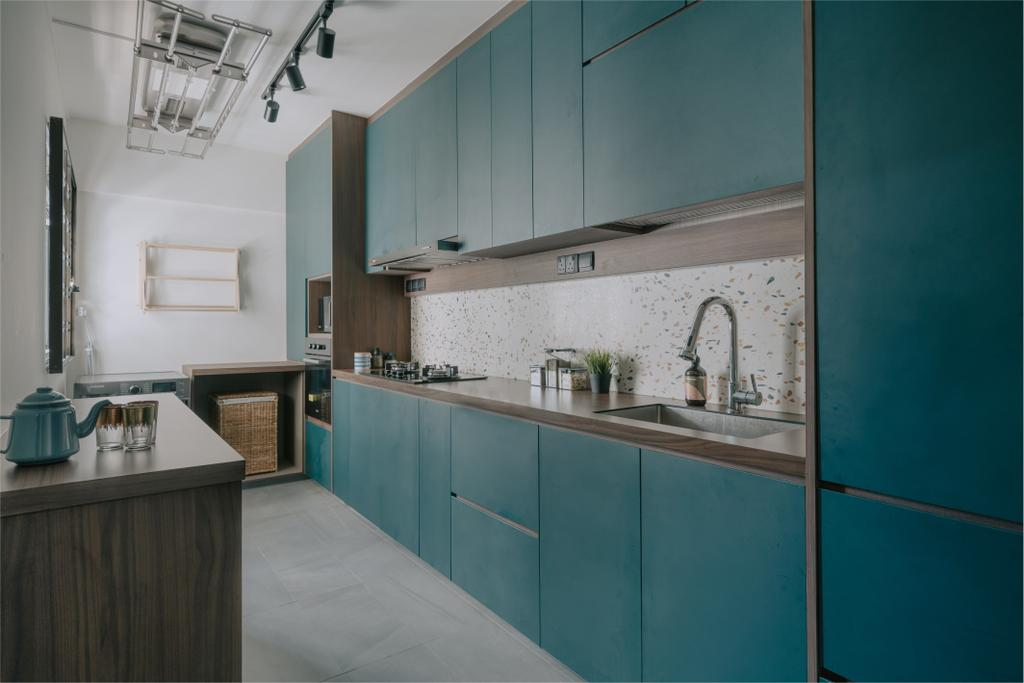 Contemporary, HDB, Kitchen, Strathmore Avenue, Interior Designer, Key Concept