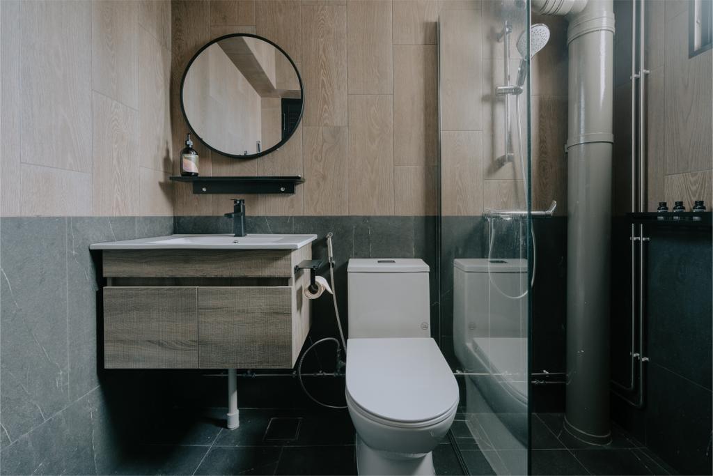 Contemporary, HDB, Bathroom, Strathmore Avenue, Interior Designer, Key Concept
