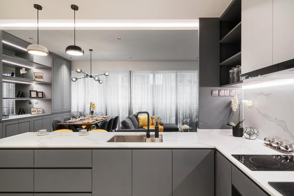 Modern, Condo, Kitchen, Martin Place Residences, Interior Designer, Mr Shopper Studio