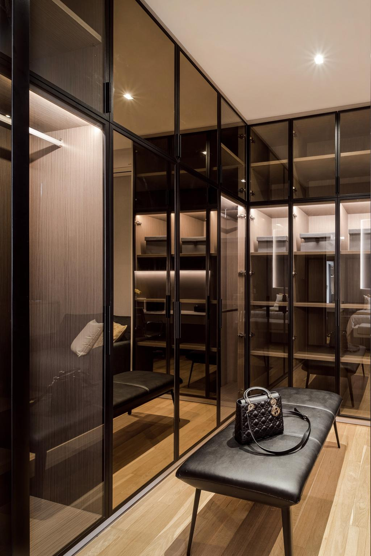 Modern, Condo, Bedroom, Martin Place Residences, Interior Designer, Mr Shopper Studio, Walk In Wardrobe, Wardrobe, Dressing Room