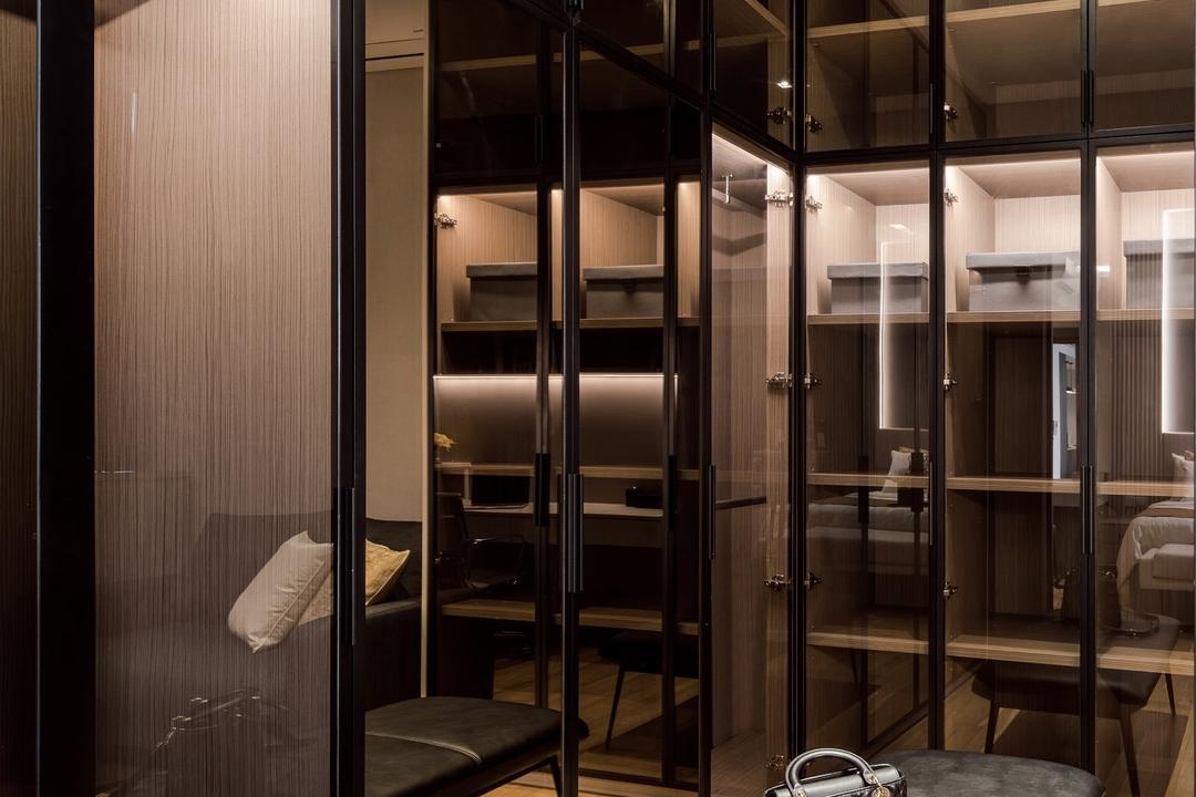Martin Place Residences, Mr Shopper Studio, Modern, Bedroom, Condo, Walk In Wardrobe, Wardrobe, Dressing Room