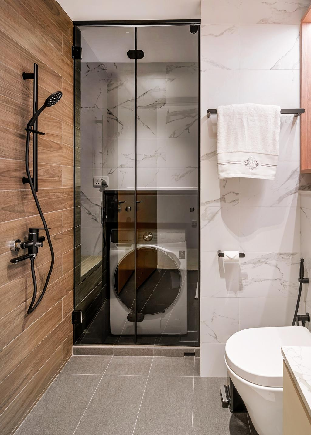 Modern, Condo, Bathroom, Martin Place Residences, Interior Designer, Mr Shopper Studio, Yard, Laundry