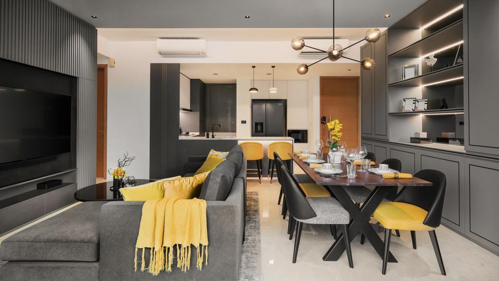 Modern, Condo, Living Room, Martin Place Residences, Interior Designer, Mr Shopper Studio