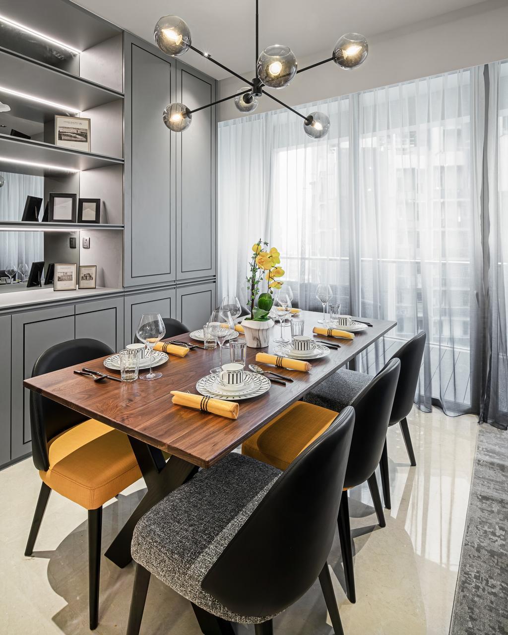 Modern, Condo, Dining Room, Martin Place Residences, Interior Designer, Mr Shopper Studio