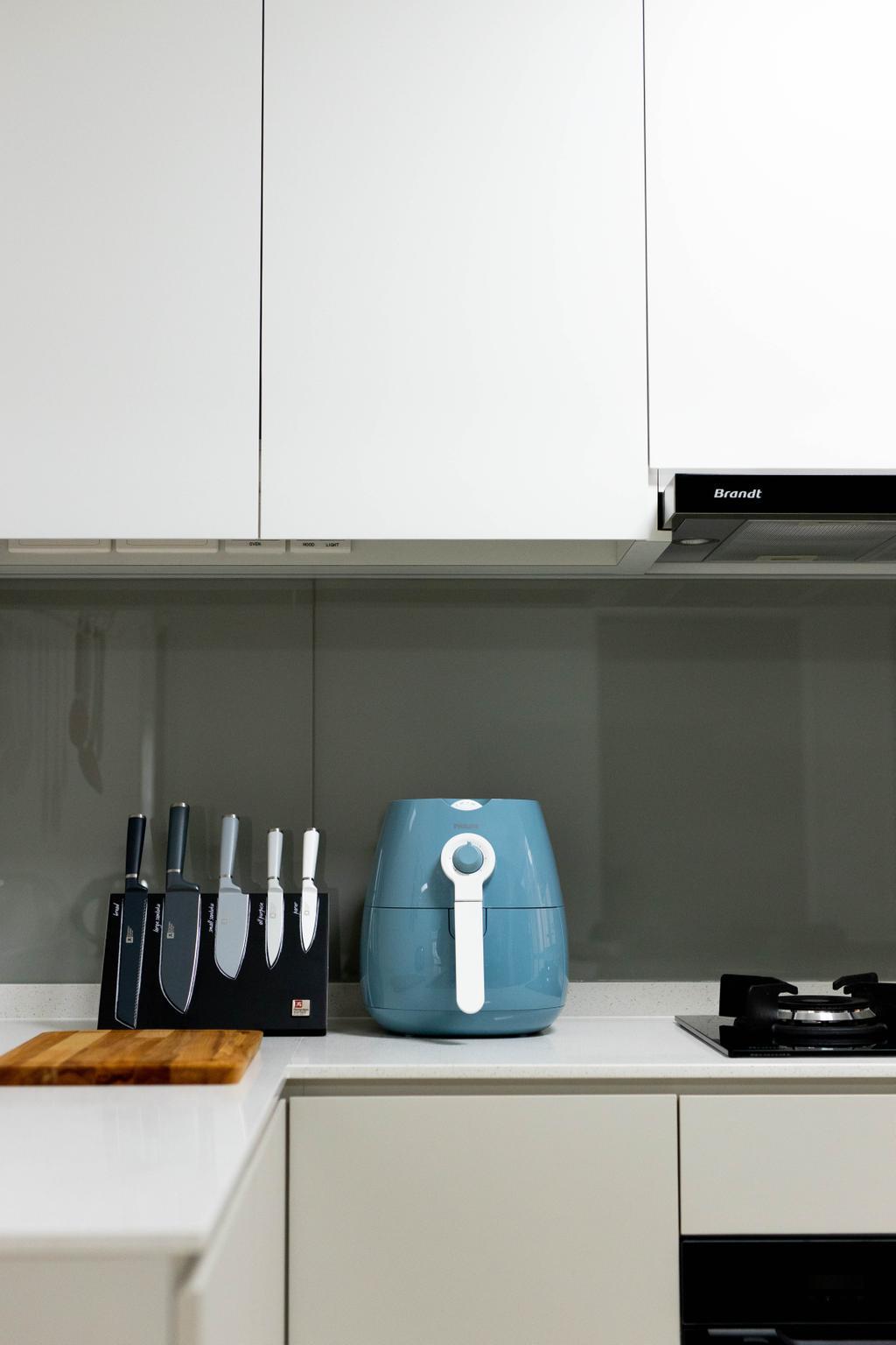 Modern, HDB, Kitchen, Buangkok Link, Interior Designer, Forefront Interior