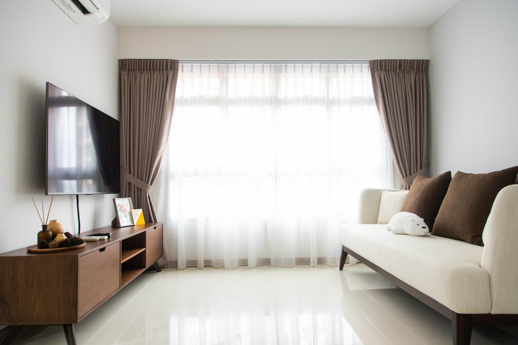 Modern, HDB, Living Room, Buangkok Link, Interior Designer, Forefront Interior