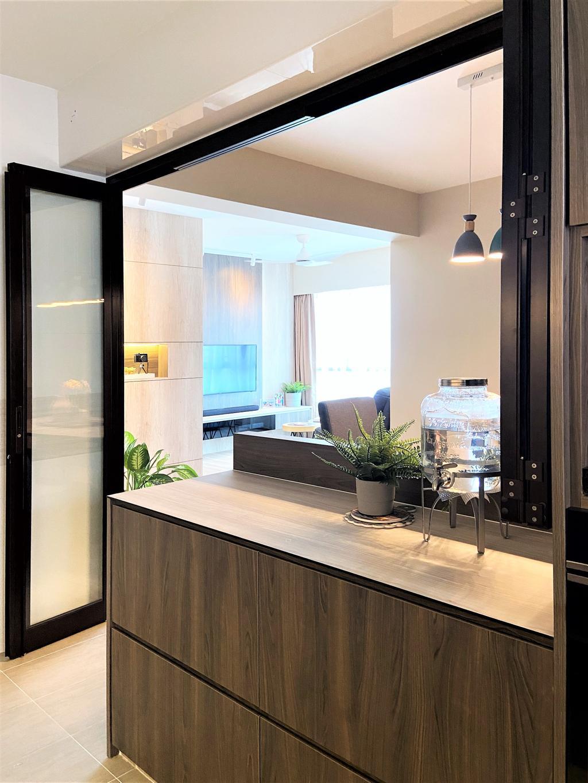 Modern, HDB, Kitchen, Bedok North Road, Interior Designer, Space Atelier, Contemporary