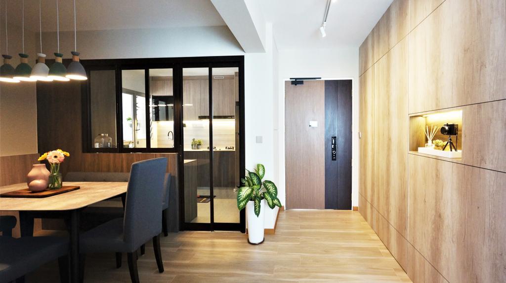 Modern, HDB, Dining Room, Bedok North Road, Interior Designer, Space Atelier, Contemporary